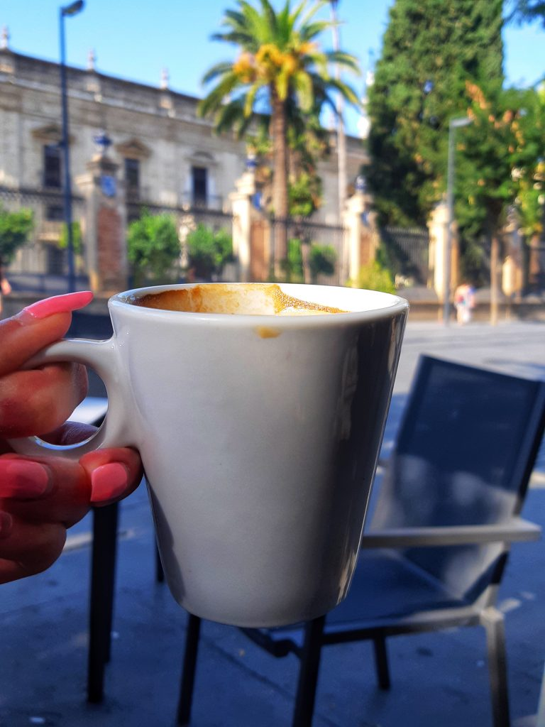 Cafe Con Leche in Spain from Coffee and a view