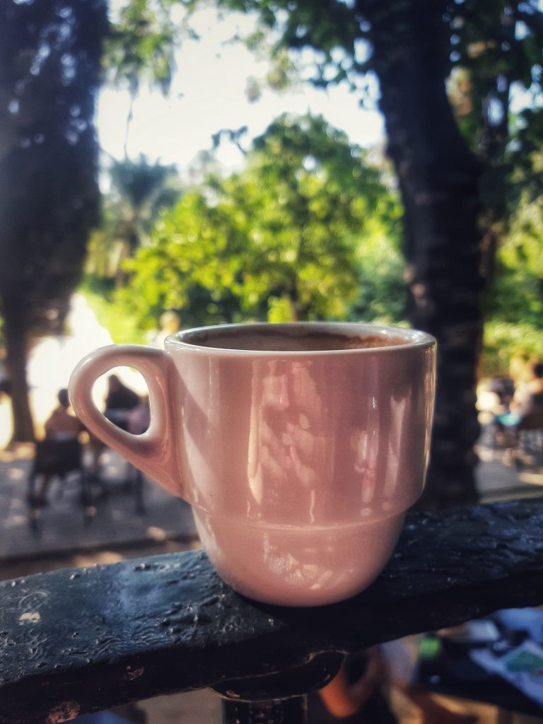 Coffee in Spain by coffee and a view
