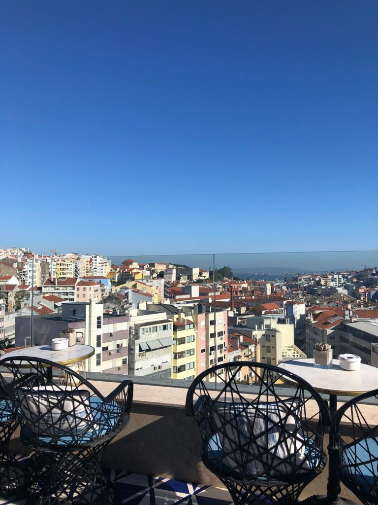 Hotel H10 in Lisbon is one of the top 5 places with the best views by coffee and a view